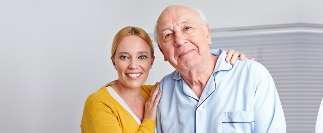 caregiver and old man
